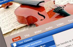 Webseiten für Musiker