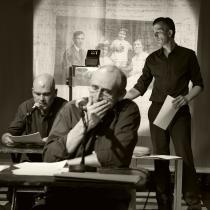 (c) Theater im Marienbad- Ich glaube an unsere Kinder: C. Müller, H. Spagl & D. Knapp // Foto: D. Kohn, Theater im Marienbad, 2018