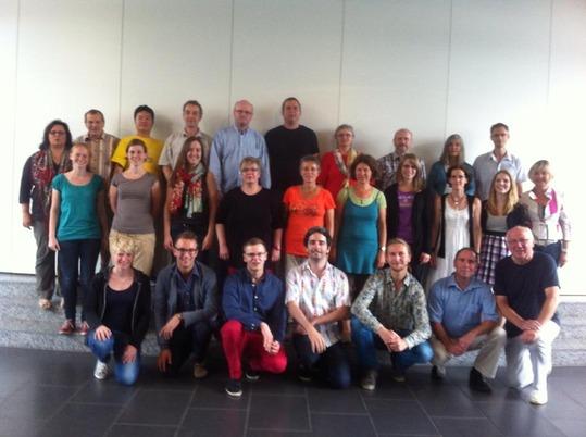 Teilnehmer und Dozenten der Chorleiterausbildung 2013