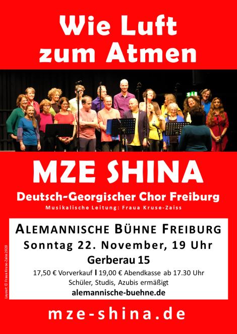 Auftritt MZE SHINA Alemannische Bühne Freiburg 22.11.2020