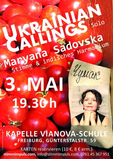 Konzert Maryana Sadovska, 3. Mai 2018 in Freiburg