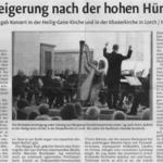 Konzertkritik zum Solokonzert mit Orchester in den Schorndorfer Nachrichten (7.3.2013)
