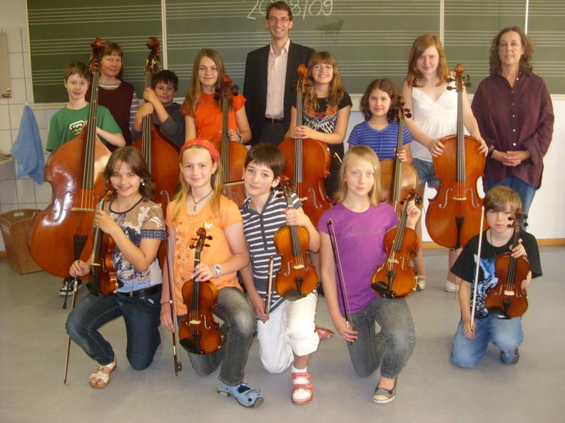 Unsere erste Streicherklasse 2008/ 2009