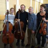 von links: Rahel Klein und Lutz Schindeldecker, Géza Szilvay und Anja Hepp-Dierig