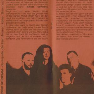 Programmheft von der Rose Jena 1990