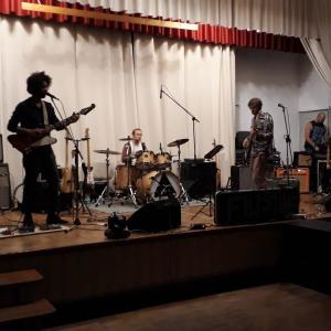 Die Band Filistine beim Soundcheck...