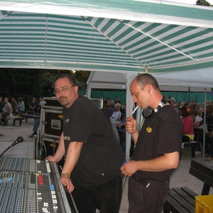 Robert beim Bluesfestival Bad Berka an der Technik