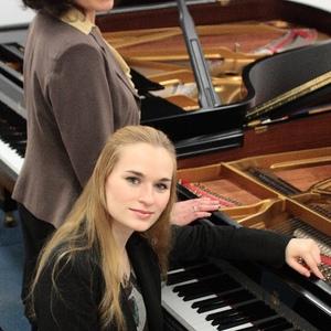 Mit Anna Anstett (Prystromska) in Musikhochschule Stuttgart