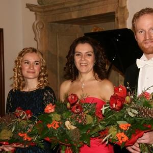Mit Anna Anstett (Pianistin) und Albrecht v. Stackelberg (Bariton) Dezember 2015