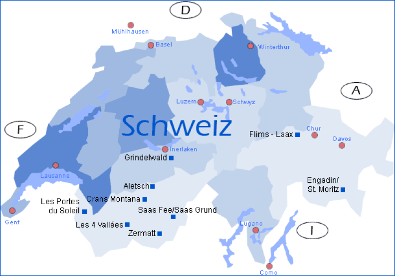 Schweiz Sprachregionen