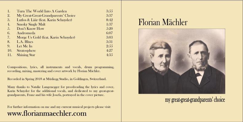 "Florian Mächler ""my great-great-grandparents' choice"""