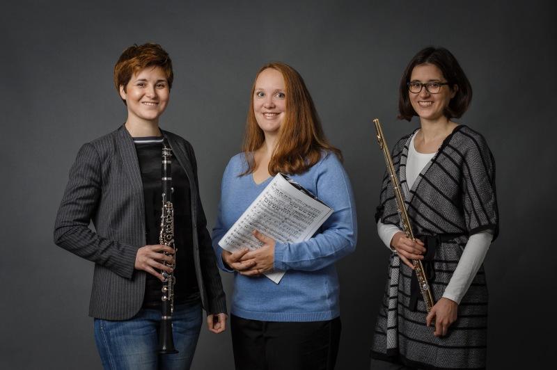 TwinTRIO, Franziska Hofmann (Klarinette), Marie-Luise Klein (Klavier), Stefanie Hofmann (Querflöte)