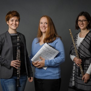 TwinTRIO (03), Stefanie Hofmann (Flöte), Franziska Hofmann (Klarinette), Marie-Luise Klewer (Klavier)