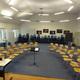 Der Musikraum der Beethoven-Schule vor der Probe des Großen Chores