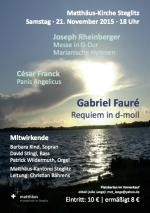 Plakat Fauré-Requiem