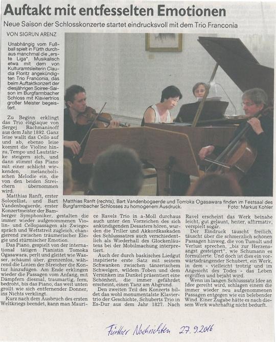 Konzert in Fürth 24.09.2016