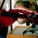 Achtung T-Rex prüft Haltung