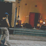 Klappstuhl Dieter vor der Bühne
