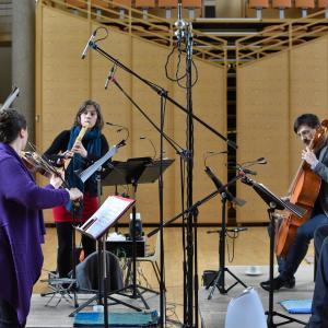 "PRISMA with Gábor Juhasz recording ""Il Transilvano"" (c) Betrand Pichène"