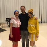 """Mit Samuel Penderbayne und Marlene Gaßner """"Die Schneekönigin"""" Tischlerei, Deutsche Oper Berlin 2019"""