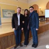 mit Wei Bijun und Klaudius Baran
