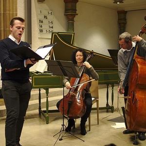 """Probe mit dem Ensemble """"concerto galante""""Schorndorf 5.12.2015"""