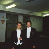 Con Bodgan Olędzki prima del concerto, Opole / PL