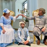 "Uberto in ""La Serva Padrona"" mit Cornelia Marschall und Stephan Wapenhans"