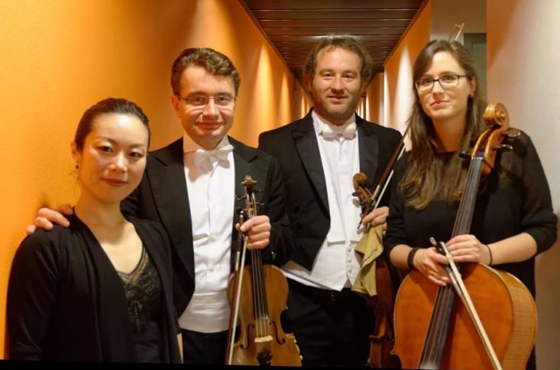 NNO Piano Quartet Sergei Bolotny violin Keiko Sakuma piano Christophe Weidmann viola Noelle Weidmann cello photo Michiel Klep
