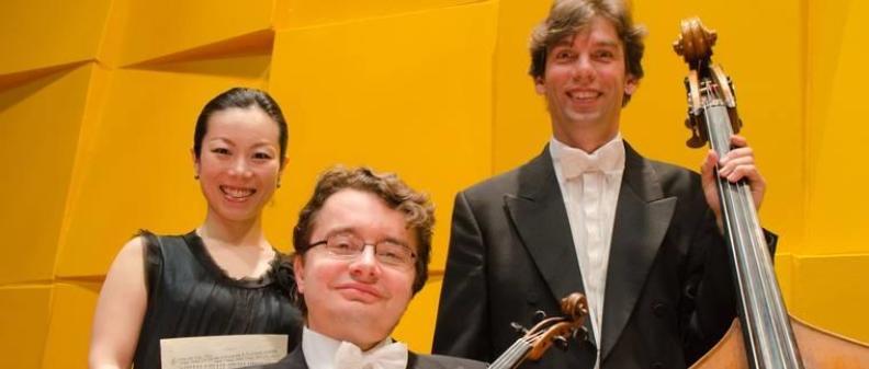 NNO Piano Trio  Sergei Bolotny violin Keiko Sakuma piano Sven Otte contrabass photo Michiel Klep 2013