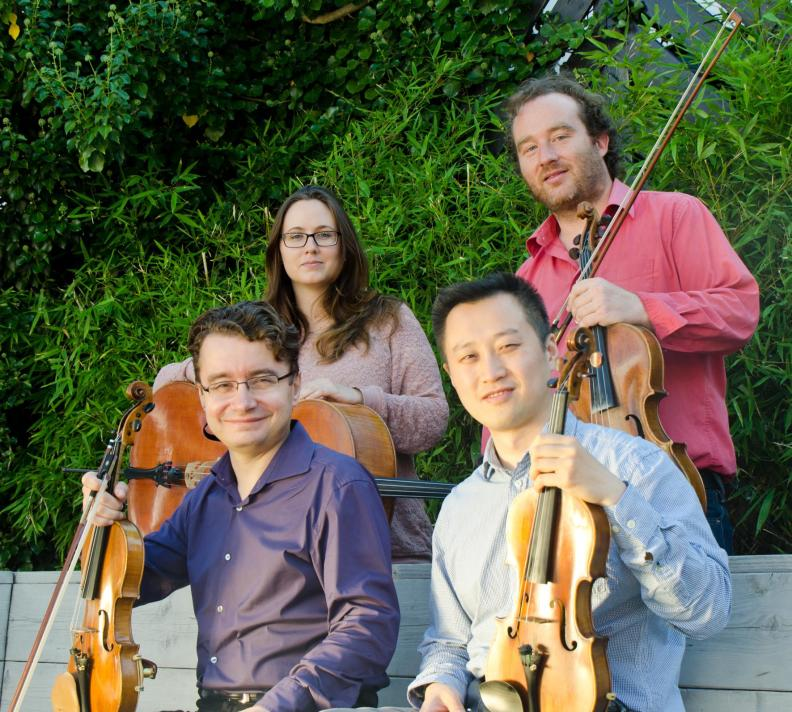 NNO String Quartet Sergei Bolotny violin Yu Li violin Christophe Weidmann viola Noelle Weidmann cello foto Michiel Klep