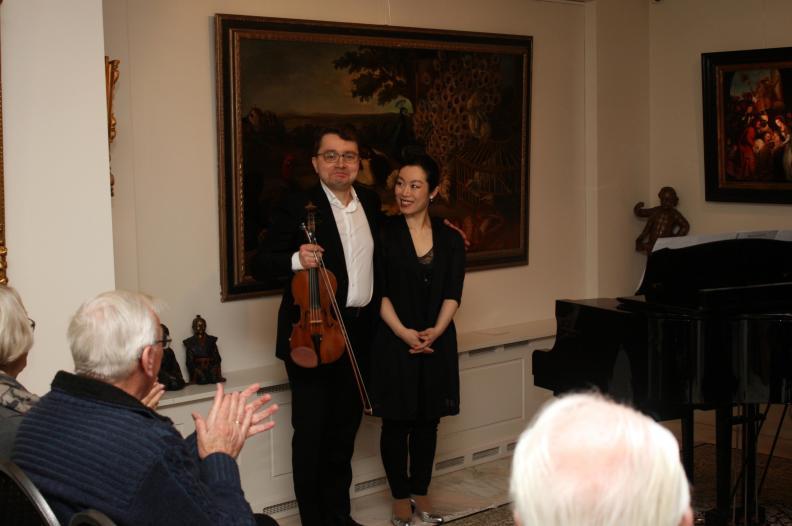 Recital Violin Piano Veendam 18.03.2018 Sergei Bolotny violin Keiko Sakuma piano