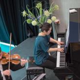 Sergei Bolotny violin Keiko Sakuma piano foto Cultureel Centrum Zuidhorn