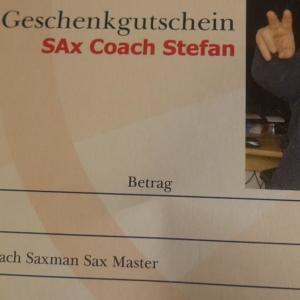 """*Gutscheine""""- für Saxophon Unterricht Gutschein für Saxophon Workshops Gutscheine für Saxophon Playalongs Gutscheine für Saxophon Backingtracks"""