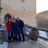 Mit den Schwänen auf Burg Trausnitz in der Oberpfalz! ... ob Klaus noch das Einradfahren gelernt hat?