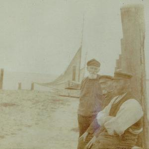 Meine beiden Sylter Urgroßväter mit einem weiteren Schiffer