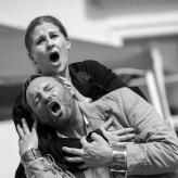 "Proben ""Fidelio""  - Larissa Angelini (Leonore), Brad Cooper (Florestan) © Uwe Hauth"