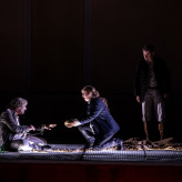 "Premiere ""Fidelio"" - Brad Cooper (Florestan), Larissa Angelini (Leonore), Bartosz Szulc (Rocco) © Uwe Hauth"