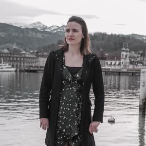 Bei einem Set für ein Musikvideio 2018
