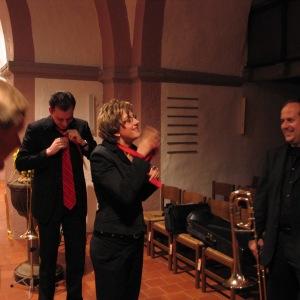 kurz vor dem Konzert in Reelkirchen 2010