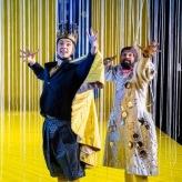 Hamed und Sherifa an der Staatsoper Hannover (Foto: Clemes Heidrich, rechts: Darwin Leonard Prakash)