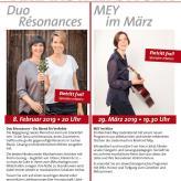 Duo Résonance 02/19 MEY im März 03/19