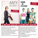 MEY im Mai 05/18 und Ebb & Flow 05/18