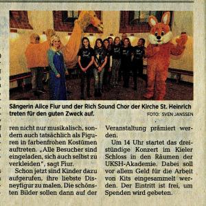14.11.2019_Kieler Nachrichten Disney-Benefizkonzert