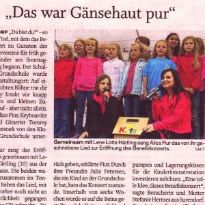 """Eckernförder Zeitung 06/2013 """"Das war Gänsehaut pur"""""""