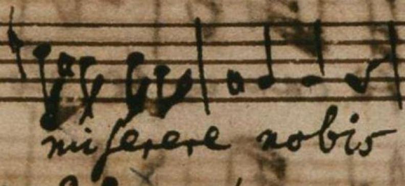 """Miserere aus dem """"Qui tollis"""" der Missa"""